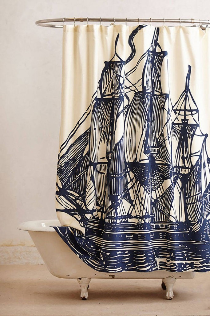 Ship Shower Curtains
