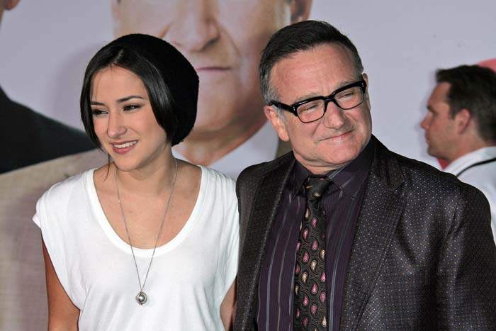 "Zelda Williams and father Robin Williams at the ""Old Dogs"" World Premiere s_bukley / Shutterstock.com"