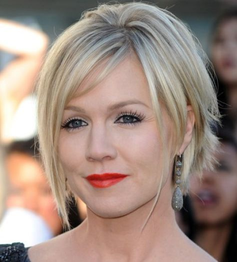 The choppy layered look is a beautiful hairstyle for over 40