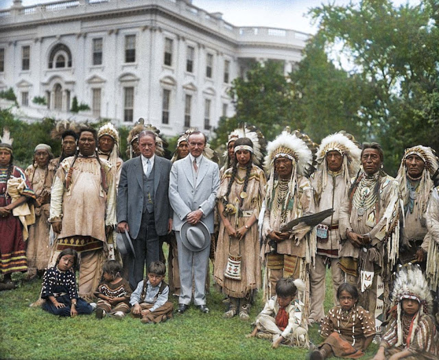Historic Photographs of Native Americans at the White ... White House 1920s